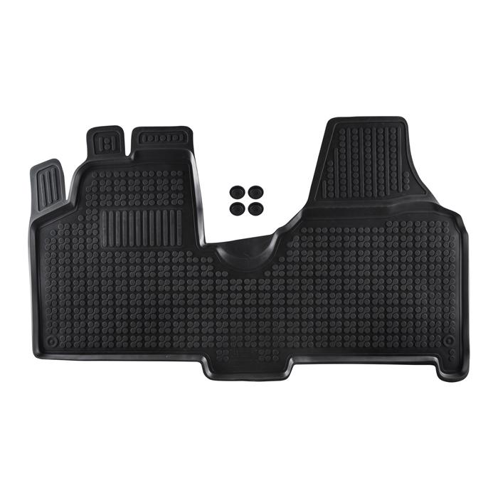 Гумени стелки Rezaw-Plast за Citroen Jumpy II / Fiat Scudo II / Peugeot Expert II 2006-2016 / Toyota Proace 2013- с фабричен велурен под - 0
