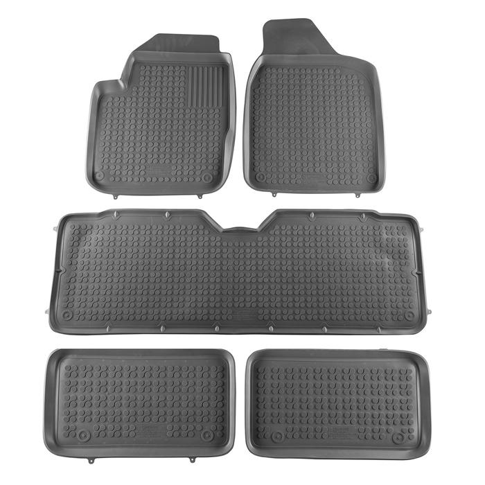 Гумени стелки Rezaw-Plast за VW Sharan 1995-2010 / Seat Alhambra 1995-2010 / Ford Galaxy 1995-2006 седем места - 0
